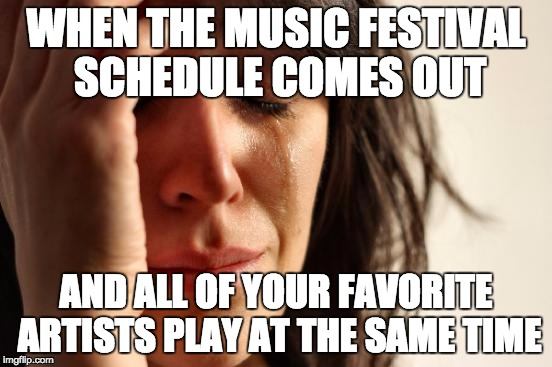 How To Deal With Scheduling Conflicts At A Festival