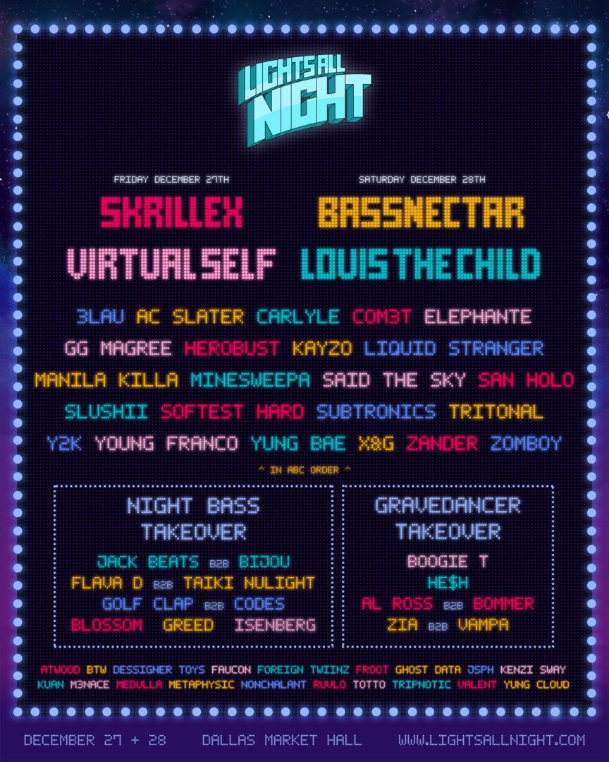 Lights All Night Lineup