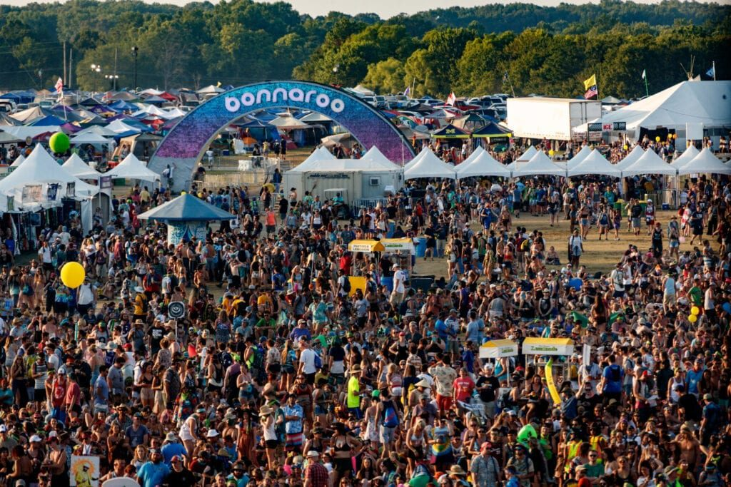 Photo courtesy of Fortune.com. Bonnaroo attendees.