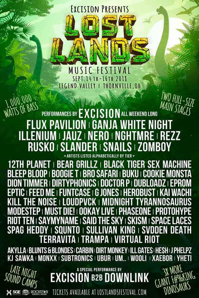 Lost Lands 2018 Lineup